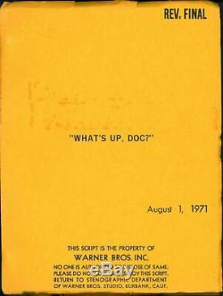 What's Up Doc Original Script / Buck Henry Film Movies 1971 #209568