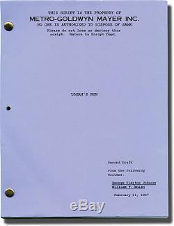 William F. Nolan LOGAN'S RUN Original Screenplay for an unproduced film #139290