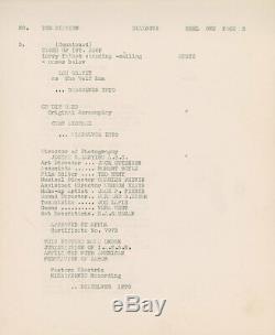 Wolf Man Original Vintage Universal Movie Script Starring Lon Chaney Jr