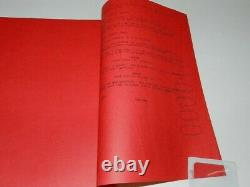 X-MEN MOVIE SCRIPT 1997 ED SOLOMON FIRST DRAFT 11/21/97 INCREDIBLY RARE 1st RED