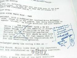 X-men Bryan Singer's Movie Script Pre Delivery Very Rare Incredible Marvel Piece