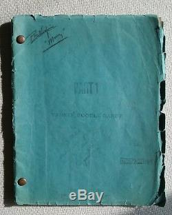 Yankee Doodle Dandy (1942) ORIGINAL Movie Script / James Cagney George M. Cohan
