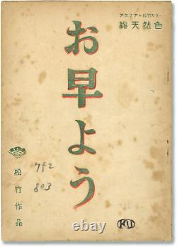 Yasujiro Ozu GOOD MORNING Original screenplay for the 1959 film with #148724