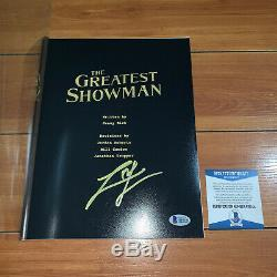 ZAC EFRON SIGNED THE GREATEST SHOWMAN FULL 107 PAGE MOVIE SCRIPT with BECKETT COA